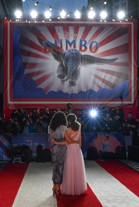 """LONDON, ENGLAND - MARCH 21: Thandie Newton (L) and Nico Parker attend the European Premiere of Disney's """"Dumbo"""" at The Curzon Mayfair on March 21, 2019 in London, England. (Photo by Gareth Cattermole/Getty Images for Disney)"""