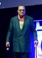 """CHICAGO, IL - APRIL 12: Billy Dee Williams (Lando Calrissian) onstage during """"The Rise of Skywalker"""" panel at the Star Wars Celebration at McCormick Place Convention Center on April 12, 2019 in Chicago, Illinois. (Photo by Daniel Boczarski/Getty Images for Disney ) *** Local Caption *** Billy Dee Williams"""
