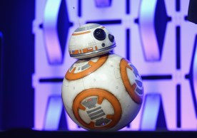 """CHICAGO, IL - APRIL 12: BB-8 onstage during """"The Rise of Skywalker"""" panel at the Star Wars Celebration at McCormick Place Convention Center on April 12, 2019 in Chicago, Illinois. (Photo by Daniel Boczarski/Getty Images for Disney ) *** Local Caption *** BB-8"""
