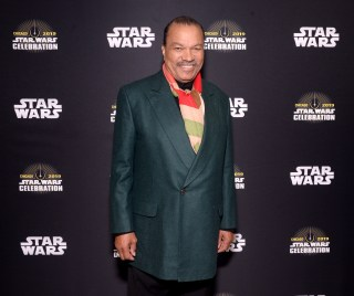 """CHICAGO, IL - APRIL 12: Billy Dee Williams (Lando Calrissian) attends """"The Rise of Skywalker"""" panel at the Star Wars Celebration at McCormick Place Convention Center on April 12, 2019 in Chicago, Illinois. (Photo by Daniel Boczarski/Getty Images for Disney ) *** Local Caption *** Billy Dee Williams"""