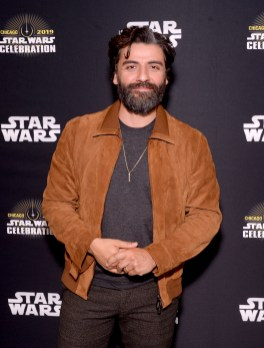 """CHICAGO, IL - APRIL 12: Oscar Isaac (Poe Dameron) attends """"The Rise of Skywalker"""" panel at the Star Wars Celebration at McCormick Place Convention Center on April 12, 2019 in Chicago, Illinois. (Photo by Daniel Boczarski/Getty Images for Disney ) *** Local Caption *** Oscar Isaac"""