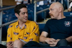 (from left) Scott Carlin (Pete Davidson) and Ray Bishop (Bill Burr) in The King of Staten Island, directed by Judd Apatow.