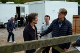(forefront, from left) Kevin Bacon and writer/director David Koepp on the set of You Should Have Left.