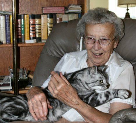 OP-Henry-American-Shorthair-silver-tabby-cat-in-arms-of-a-happy-grandma