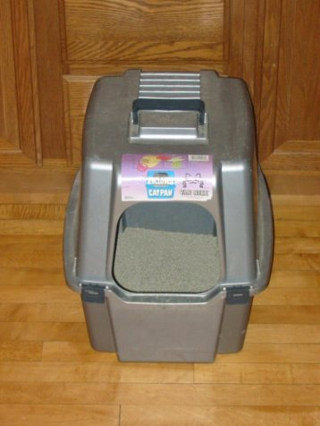 Image of cat supplies litter box