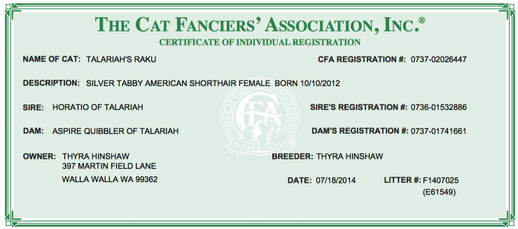 Image of example CFA registration form
