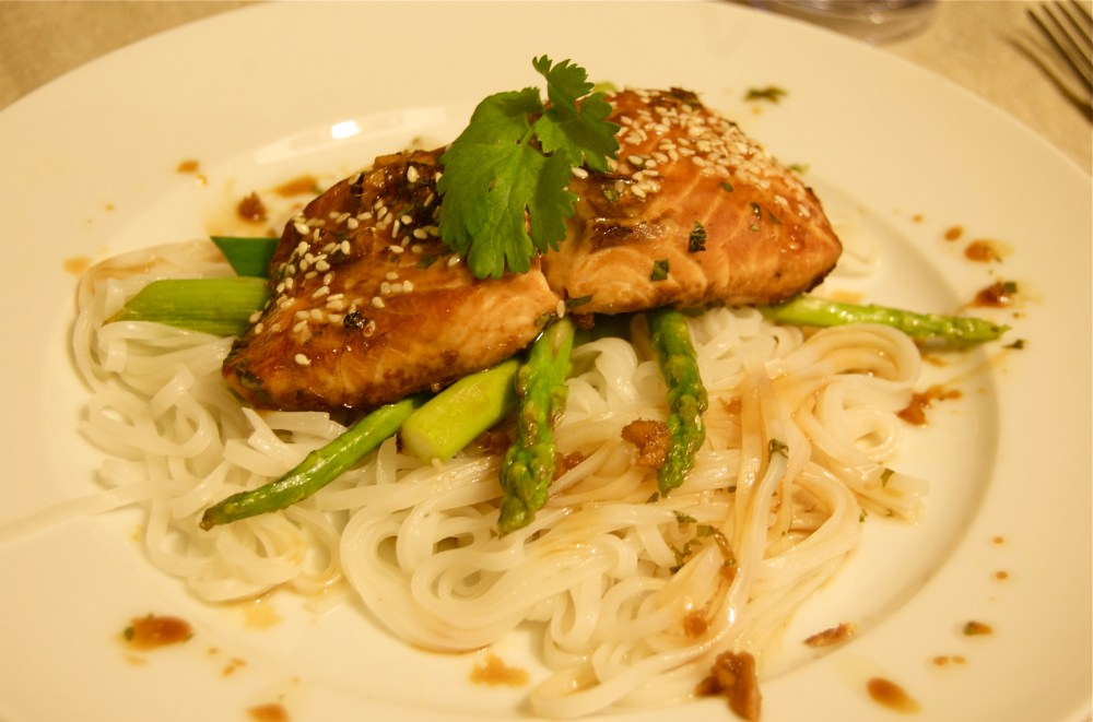 Soy and ginger marinated salmon (1/5)