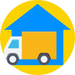 Icon of truck for residential moving.