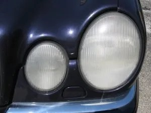 We'll clean up your car's headlights so they are clear and bright again.