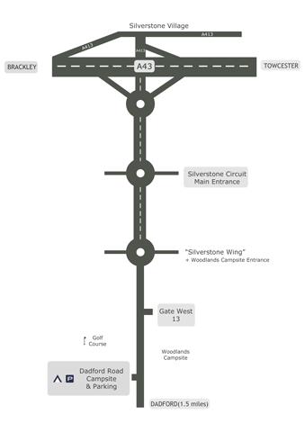 Dadford Road Campsite Location Map