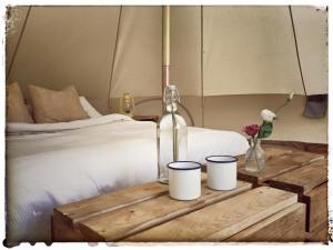 How homely can a tent get?