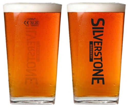 Silverstone Pint Glass