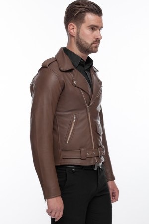 Perfecto Men's Modern Cool and Stylish Leather Jacket