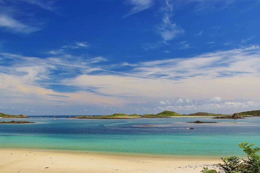 The Isles of Scilly beach