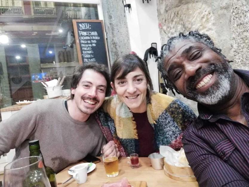 Artur, Marta & me on the Porto food tour at a local restuarant