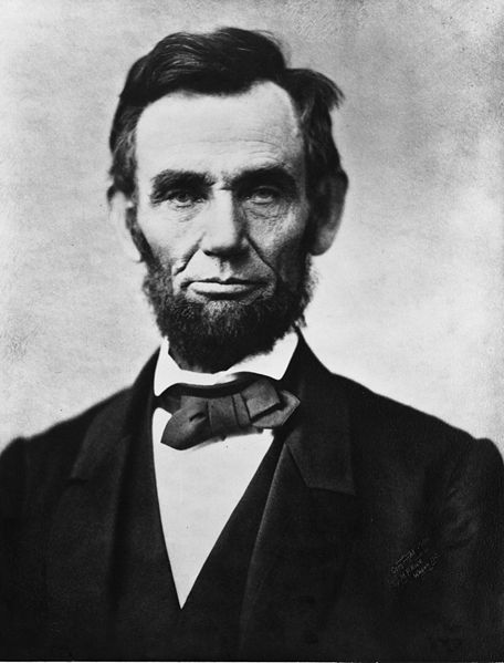 Abraham Lincoln - head & shoulders portrait from Believe Collective (cc) (from flickr)