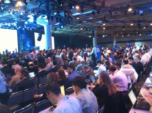 The start of VMWorld2010's 1st keynote session