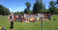 Our great volunteers for the retreat! (ignore the piece of a person you see to the right, victim of panoramic merge)