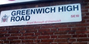 Royal Borough Greenwich High Road sign