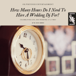 wedding dj hours