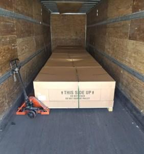 pallets in ltl truck