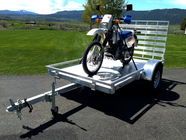 motorcycle on the trailer