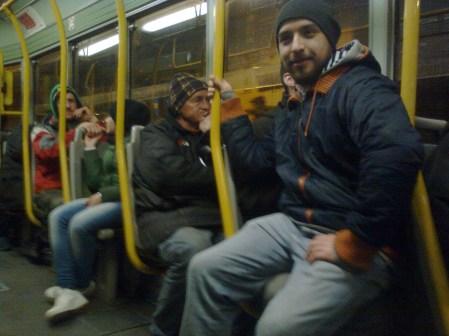 roma, tram n°5, primo tram diurno