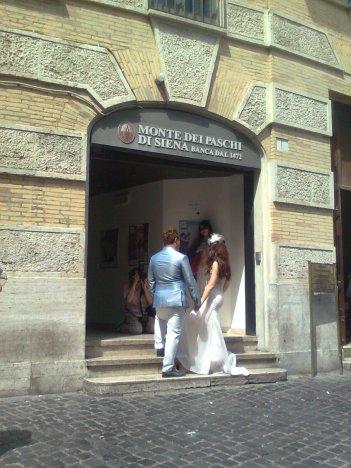 roma, pantheon, monte dei paschi di siena