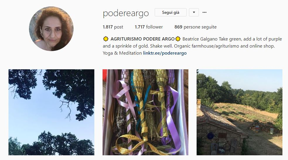 Profilo Instagram @podereargo