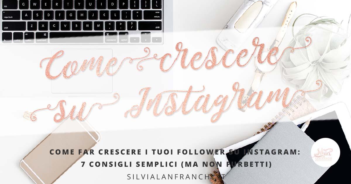 crescere follower instagram