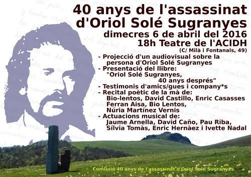 Homenatge Oriol Solé Sugranyes