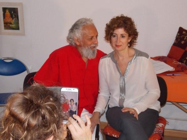 Mientras hacemos pruebas en la entrevista con Carlos Kirael