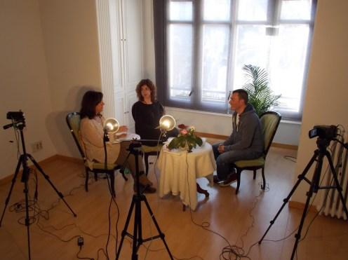 Un momento de la entrevista con Sergi Torres