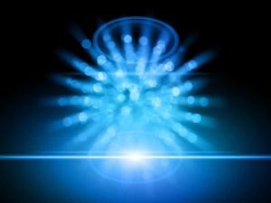 orbes de luz azul
