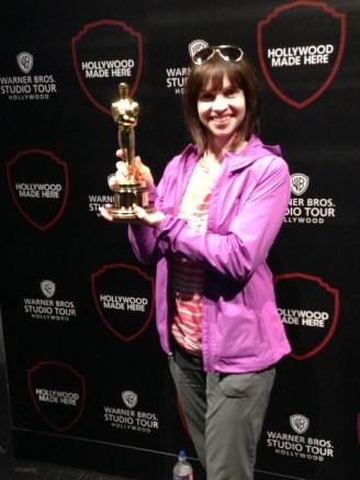 Holding a real Academy Award