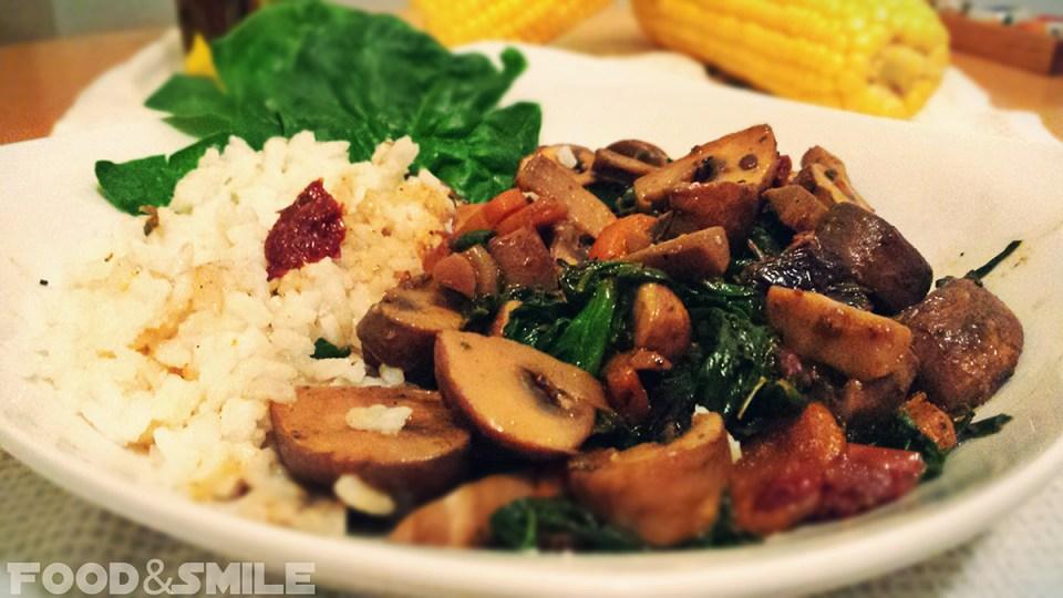 Гъби със спанак и ориз