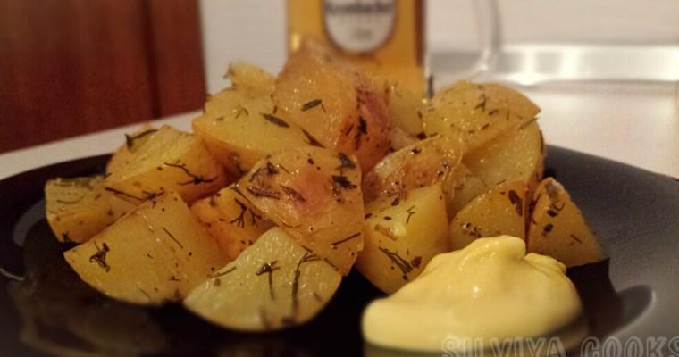 Печени картофи с бира в плик