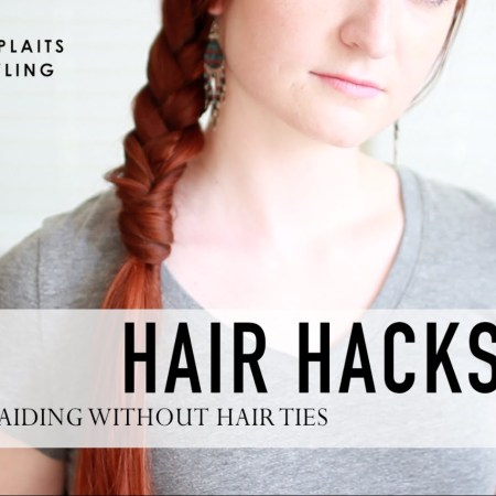 Hair Hack: Braiding without a Hair Tie