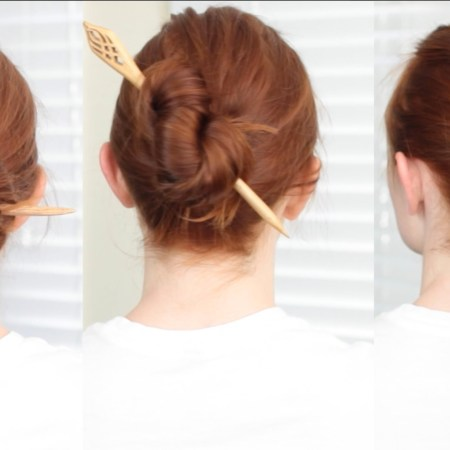 Fast and Easy Pinless Updos that Last All Day