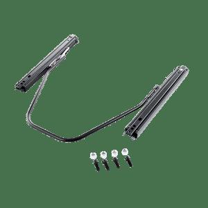 Universal seat slider with 2 locking mechanisms