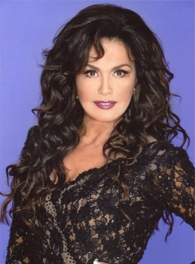 marie osmond long body wave lace front human hair wigs 24