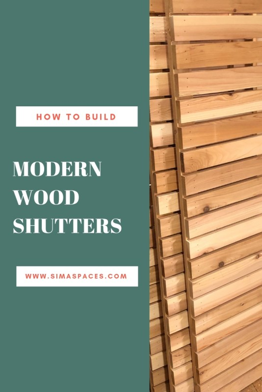 Pinterest Image: How to Build Modern Wood Shutters