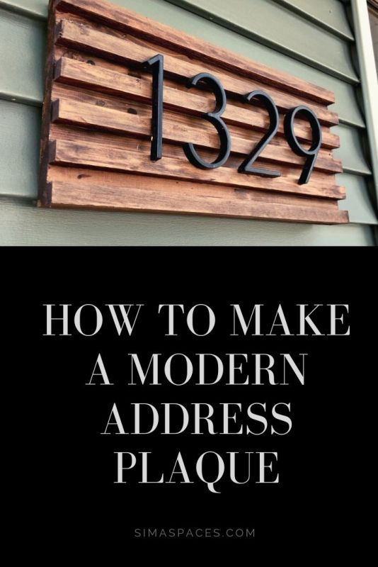 how to make a modern address plaque, DIY address plaque sima spaces