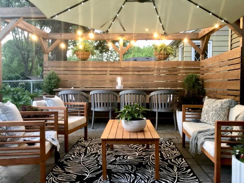 Sima Spaces outdoor living space, DIY patio