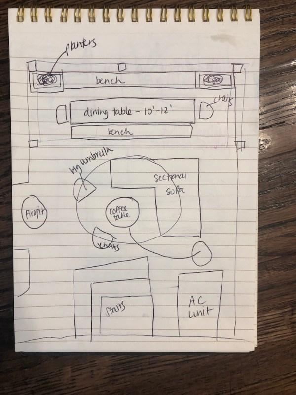 Sima Spaces patio plans
