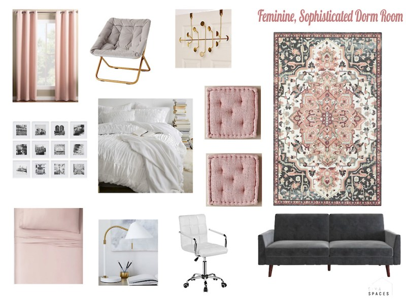 Feminine and Sophisticated Dorm Room Design, Sima Spaces