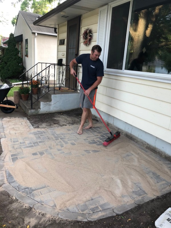 Sima Spaces patio renovation: polymeric sand install
