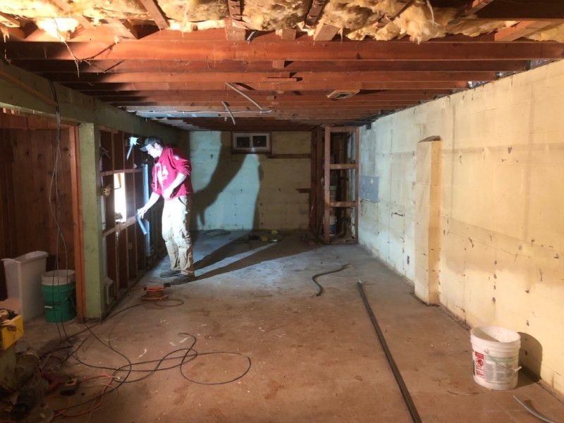 Sima Spaces: 1950's Basement Demo AFTER