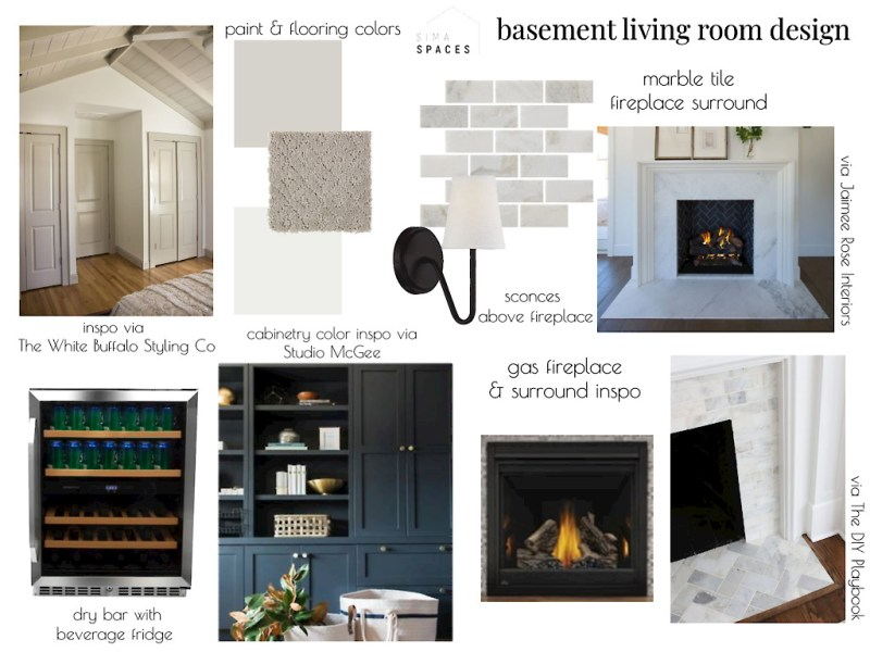 Sima Spaces Living Room inspiration and moodboard, Spring 2020 ORC