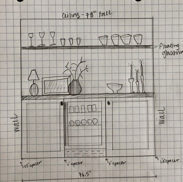Builtin dry bar design: Sima Spaces ORC Week 2